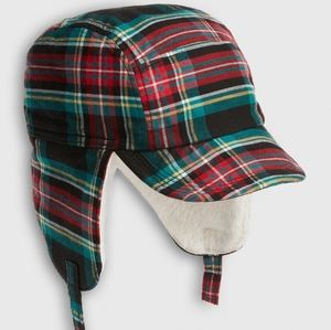 NWOT [GAP] 0-6 Mo. Unisex Baby Plaid Trapper Hat